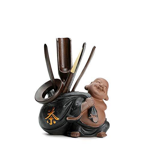 GBCJ Accesorios para Juegos de té Cerámica Creativa Seis Adornos de Caballero Maitreya decoración de la Ceremonia del té cerámica Accesorios de la Ceremonia del té-Nafo jnkkd264