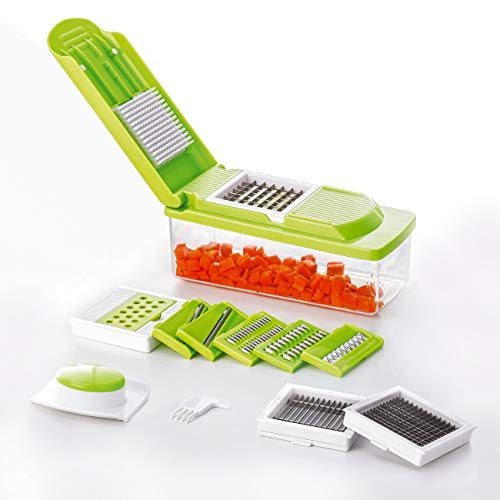 Kvota Reibenhobel-Set multifunktional Gemüseschneider Allesschneider Küchenreibe Gemüsehobel