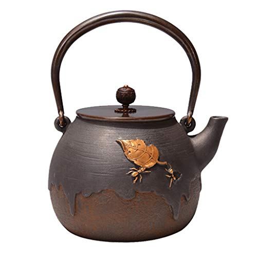Teapot Tea Kettle Tea Pot Antique Cast Iron Ant Design Tetsubin Japanese Tea Kettle Cast Iron Teapot Infuser – 1.4L Handmade
