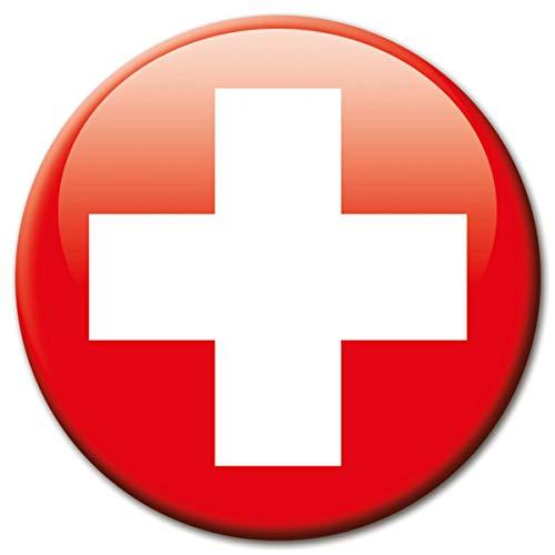 Kühlschrankmagnet Flagge Schweiz Magnet Länder Flaggen Reise Souvenir für Kühlschrank stark groß 50 mm