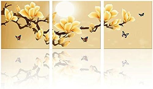 ventas en linea AWRT PaintingCanvas Picture Wall Picture Cocina Orquídea verde Impresión y y y póster en la habitación Arte de impresión Flor Q Styles 60X60cmX3 Sin Marco  Sin impuestos