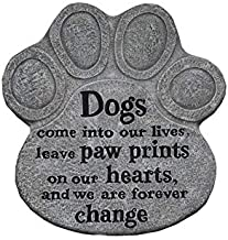 """G-mart Pet Memorial Stone Marker and Wall Plaque for Dog for Outdoor Garden, Backyard, or Lawn - 11.75""""W x 0.75""""D x 11.25""""H"""