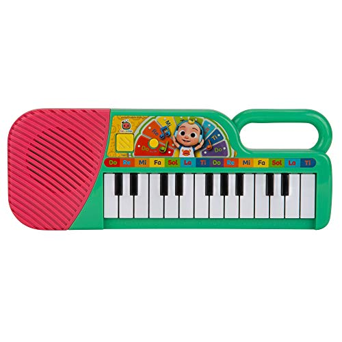 Cocomelon Musical Keyboard, 23 Keys; Clips of Music & ABC Songs