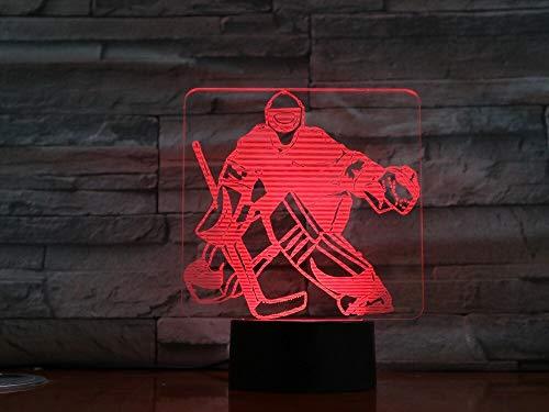 Jiushixw 3D acryl nachtlampje met afstandsbediening van kleur veranderende tafellamp hockey speler sport slaapkamer voor kinderen geschenken Canadese Origami tafellamp giraffe