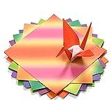 FGX Papel Origami, Papel De Origami Para Niños, 200 Hojas De Papel De Colores Brillantes En 40 Colores Vivos, Para Manualidades De Papel, Niños Y Adultos, Profesores De Escuela, 15 * 15CM