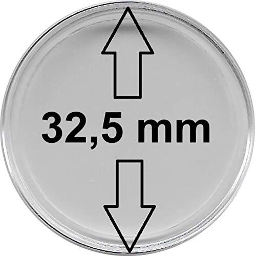 30 Stück Münzkapseln 32,5 mm, für 10 € -, 20 €, 25 € - und 10 DM - Münzen