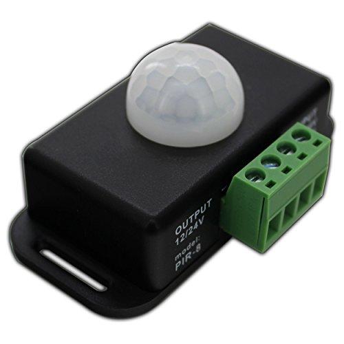 LED IR Bewegungsmelder 12V DC Bewegungssensor Bewegung PIR Sensor für LED Streifen/Leuchtmittel 12V 4A - PB-Versand® (mit Anschlussterminal)