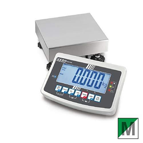 Balanza de plataforma [Kern IFB 60K10dm] Plataforma resistente Báscula con escaneado aprobación [M], rango de pesaje [Max]: 30kg/60kg, Lectura [D]: 10g/20g, reproducibilidad: 10g/20g, linealidad: 10g/20g, placa de pesaje: Alto 400x 300x 128mm (Acero Inoxidable)