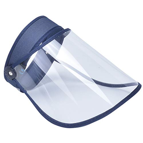 AIEOE Escudo Facial de Protección al Aire Libre Visera Protectora Antigotas Transparente Careta de Seguridad de Cara Completa
