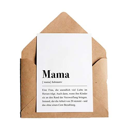 Mama Definition: Grußkarte mit Umschlag