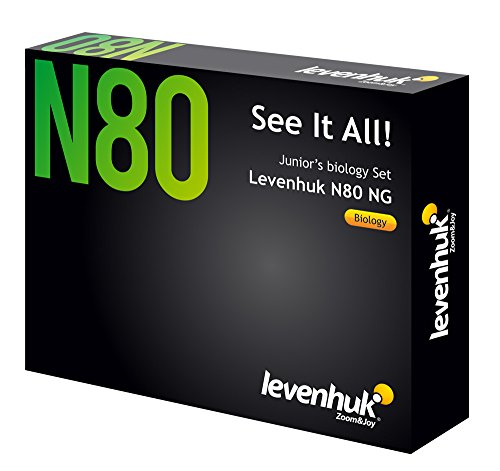 Levenhuk N80 NG See It All Slides Set of 80 Prepared Microscope Slides, 20 Blank Slides, 20 Cover Slips and a Full-Color Guide
