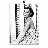 XWArtpic Audrey Hepburn Fenster Blume Wandkunst Leinwand Malerei Nordic Vintage