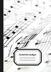 Carnet de Musique: Carnet de Partition/ Carnet pour Musicien en Herbe | Grandes Portées | 100 pages Format A4 (French Edition)