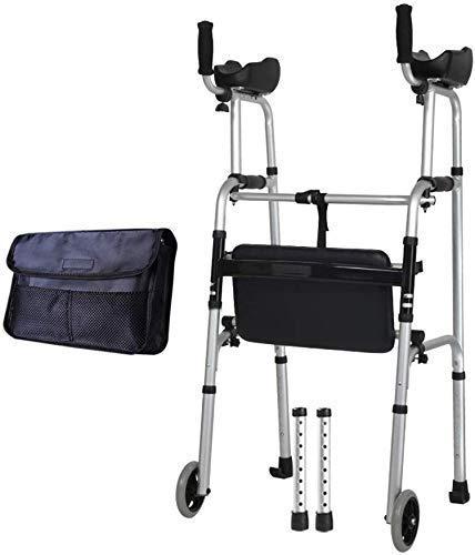 Walker Viaje con Ayuda de la Rodilla, de Ultra Movilidad de Ayuda Cuatro Ruedas, Drive Medical Andador Andador de Altura Ajustable, el Regalo más Adecuado,Gris