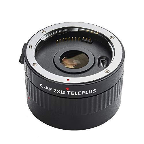 Viltrox C-AF 2X Vergrößerung Tele Extender Autofocus Mount Objektiv für Canon EOS EF Objektiv für Canon EF-Objektiv 5D II 7D 1200D 760D 750D DSLR-Kamera (Schwarz)