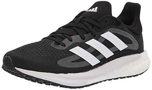 adidas Women's Solar Glide 4 Running Shoe, Black/White/Grey, 9