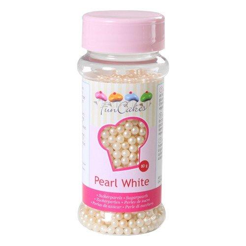FunCakes, Sprinkle Perlas repostería, Blanco, 80 gr