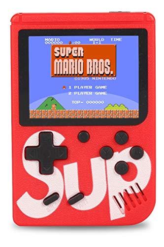 Mini Super Vídeo Game Portátil 400 Jogos Cabo Av - Vermelho