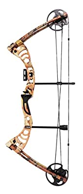 """Leader Accessories Compound Bow 30-55lbs 19"""" - 29"""" Archery Hunting Equipment with Max Speed 296fps, Right Handed"""