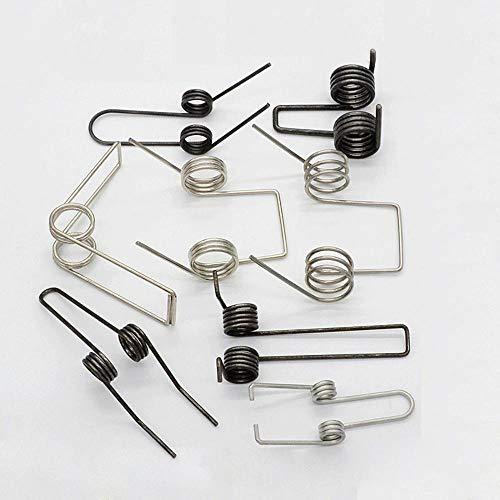 Miner 2Pcs Multifunktionale Torsionsfeder Doppel-Torsionsfedern aus Stahl 2 mm Drahtdurchmesser, 2x14 mm
