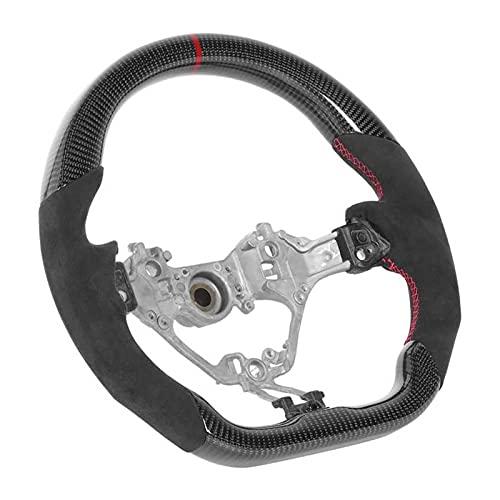 Hub del Volante Carbon Fibre Wheel Wheel Wheel Suede Hand Grips Red Stitching Fit for Subaru BRZ 2017-2020 Nuevo Piezas de Repuesto del Coche