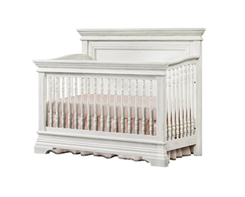 Westwood Design Olivia 4 in 1 Convertible Crib, Brushed White