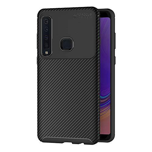 AICEK Compatible Samsung Galaxy A9 2018 Hülle, Schwarz Silikon Handyhülle für Samsung A9 2018 Schutzhülle Optik Karbon Soft Hülle (6,3 Zoll)