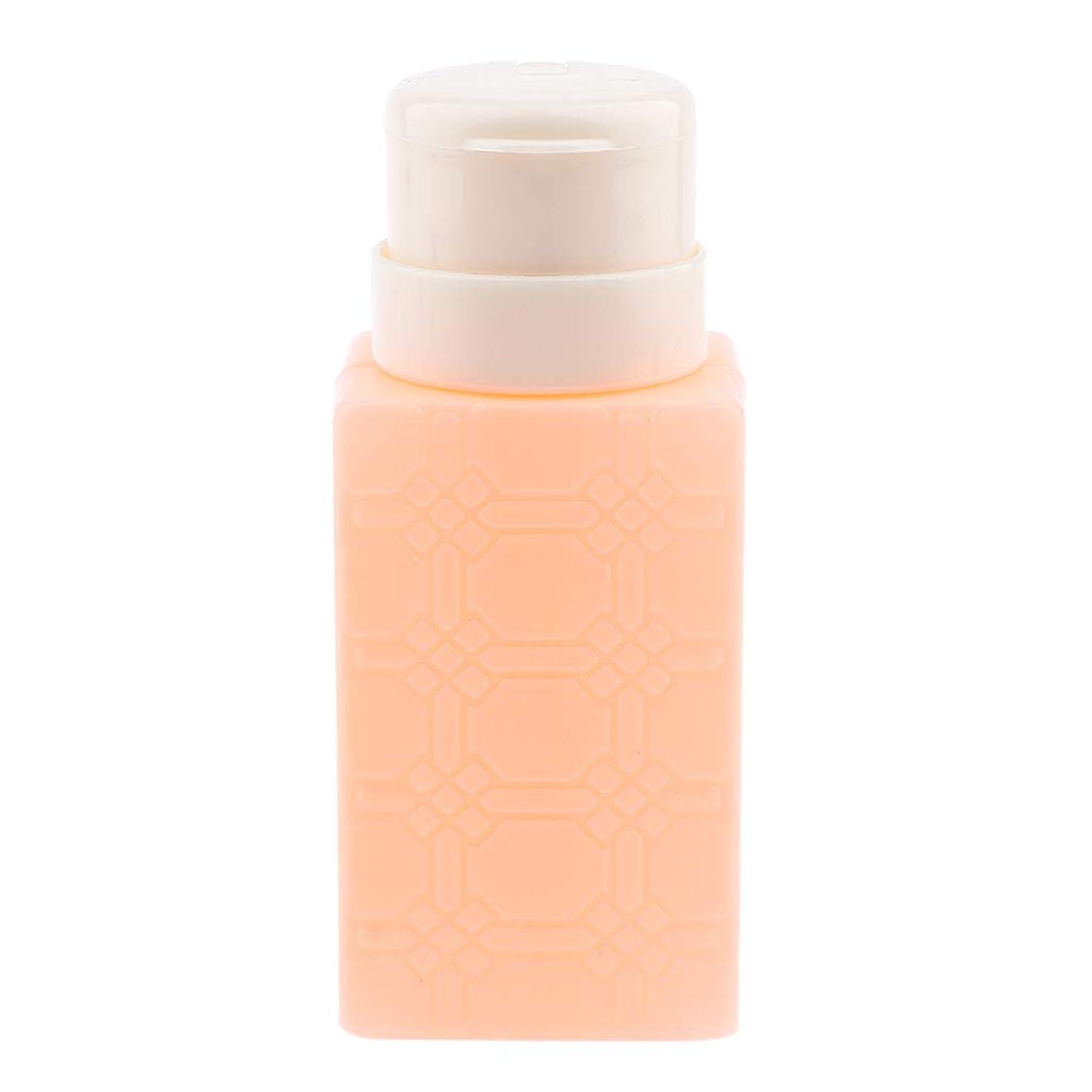 横に計算異邦人P Prettyia 200ml ネイルアート ディスペンサーポンプボトル ネイルサロン 4色選べ - オレンジ