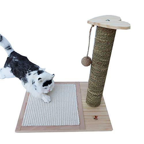 MHKJ massief hout kat klimmen frame krabben plaat kolom praktijk om de kat speelgoed huisdier producten kat plank platform om de kat speelgoed zeewier Sisal maken, Groen