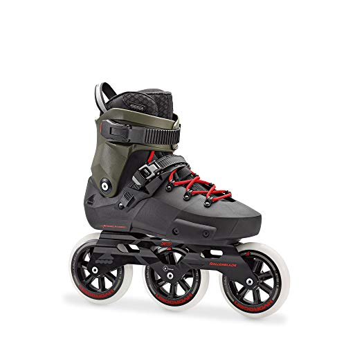 Rollerblade Twister Edge 110 3WD Pattini in linea a 3 rotelle, 38,5