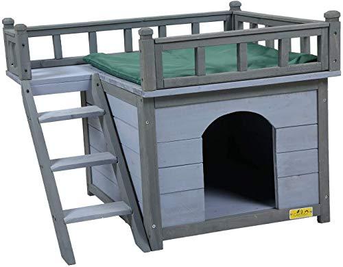 COZIWOW Dog Houses for Small Medium Dogs Indoor Outdoor Waterproof, Wood Pet...