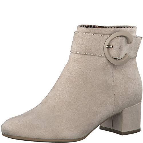 Tamaris Damen Stiefelette Schnalle 25374 Textil Blockabsatz Ivory EU 39