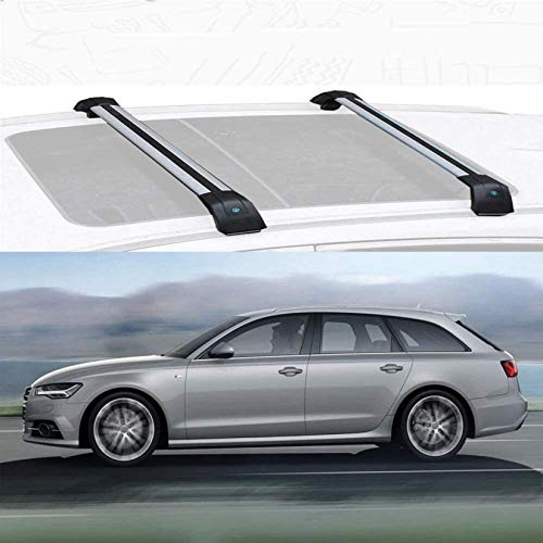 RONGJJ Ajuste Personalizado para A6 Avant, Portaequipajes De Aleación De Aluminio, Barra Transversal con Cerradura, Barras De Carga para Techo, Compatibles con Antirrobo, For Audi A6 Avant 2016