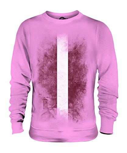 Candymix Lettonie Drapeau Dégradé Unisexe Sweat-Shirt Homme Femme, Taille 2X-Large, Couleur Rose