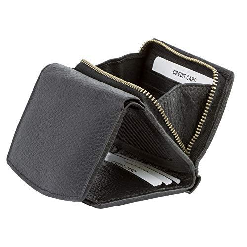 KORUMA RFID Protezione - Portafoglio in pelle di qualità con zip around Change - Vassoio di scontro questione soluzione, in confezione regalo nero - 10PNBL