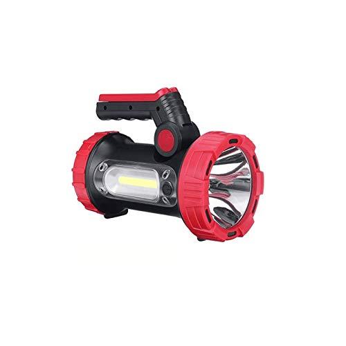 Sdesign Súper Brillante Mano LED Torch Torch Piedra Recargable Recargable Búsqueda Potente Luz Big Spotlight Linterna Linterna Búsqueda Antorcha Alta Poder