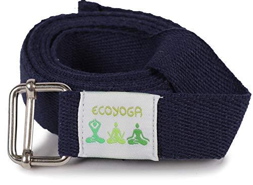 ecoYoga Cinturón de algodón básico para Yoga - Azul Marino