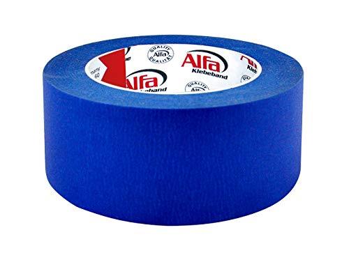 1x Blue Tape in blau 50 mm x 50 m blaues Klebeband Kreppband für den 3D Druck
