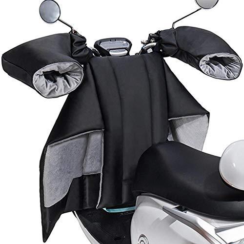 Elektrische Motorrad-Windschutzscheibendecke, PU-Scooter-Beinabdeckung Kniedecke Anti-Kick-Design Winddichte warme Abdeckung für Motorrad-Winterdecke