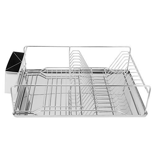 Estante para secar platos, cuenco de cocina, palillos para platos, estante de almacenamiento, organizador, diseño de pieza de almacenamiento separada izquierda y derecha para la cocina del hogar.