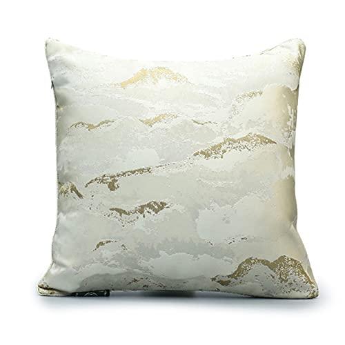 QXbecky Cojines Textura de Roca Beige, Estilo de Lujo Ligero, Almohada Cuadrada de Alta precisión, Accesorios de decoración de sofá Minimalista Moderno Cintura Espalda 45cm