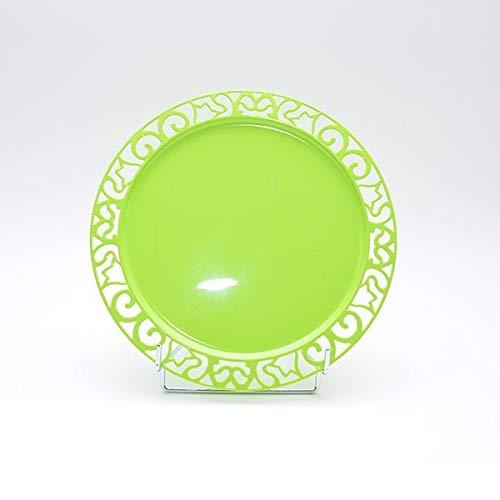 Adiserve 4 sous-Assiettes Ronde Vert anis 30 cm réutilisables