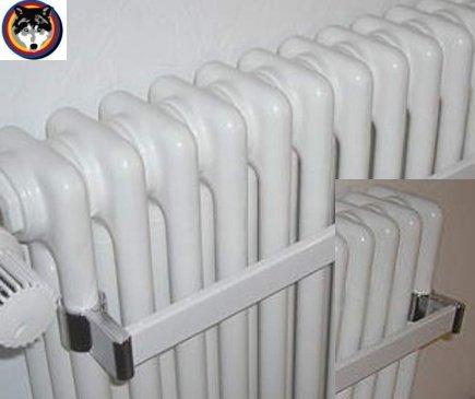 Arbonia Handtuchhalter für Röhrenradiator weiss Länge wählbar kürzbar, Zehnder (400 mm)
