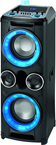 AEG EC 4836 Mobiles Musiksystem mit Bluetooth, 2x USB-Port, 5-Band-Equalizer, Karaoke-Funktion inkl. Mikrofon, PLL-UKW-Stereoradio, 400W Mega Bass, E-Gitarren-Eingang schwarz