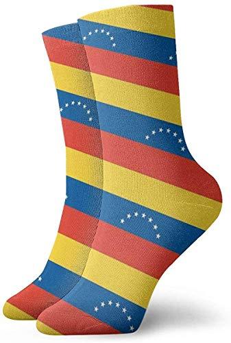 N / A Venezuela Flag Pattern - Calcetines de compresión para hombre y mujer (Medical, 30 cm)