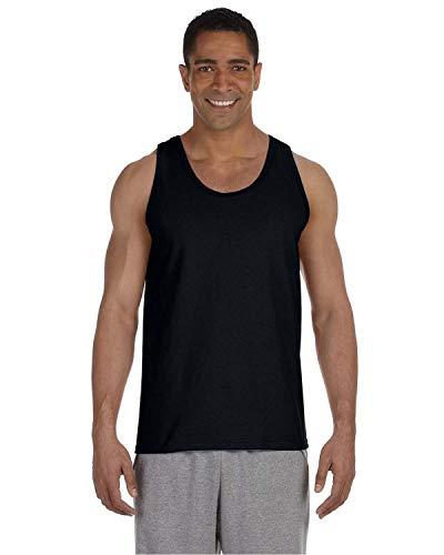 Gildan Ultra Cotton Sleeveless Tank Top 2200, Medium, Black