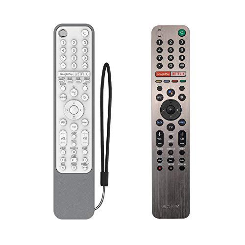 SIKAI CASE Ajustado Adapta Funda de Silicona Compatible con Sony KD/XG95/AG9 Series TV Voice Remote RMF-TX600E RMF-TX500E RMF-TX500U Carcasa de Protección a Prueba de Golpes Cubierta (Gris & Blanco)