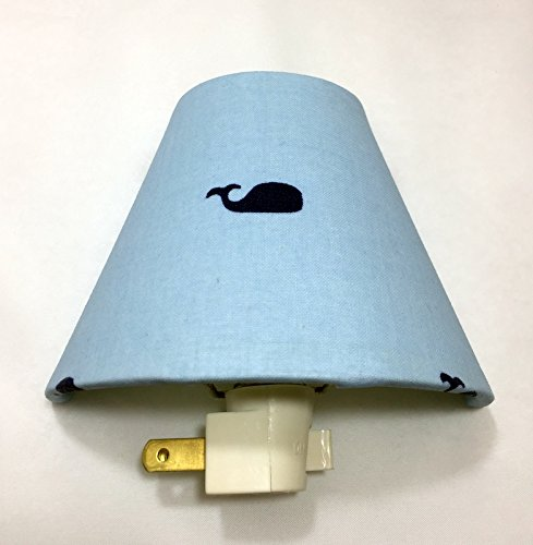 Whale Plug In Night Light / Nursery Decor / Baby Shower Gift / Home Decor / Kid's Room / Lighting / Hallway Light / Housewarming / Nautical / Sea / Ocean