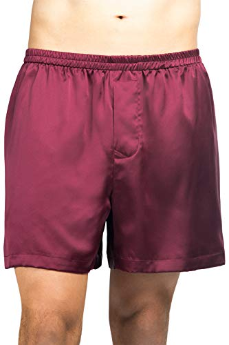 Fishers Finery Men's Luxury 100% Pure Mulberry Silk Boxers