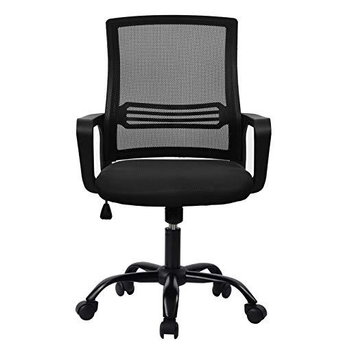 Fonimen FNM Silla Escritorio Ergonomica Office Chair Silla de Oficina Altura Ajustable Negro STR-S2